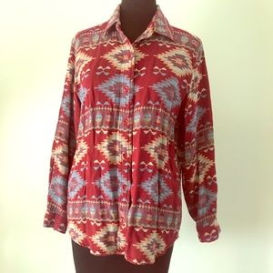 Sonoma Southwestern Woven Button Down Shirt